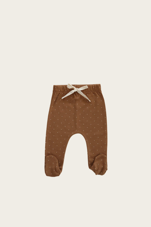 Organic Cotton Footed Pant - Tiny Dots
