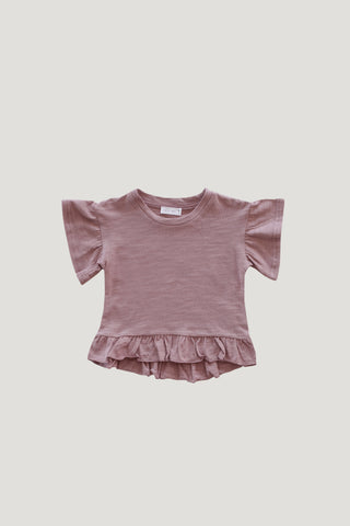Organic Cotton Muslin Lola Top - Berry Sorbet