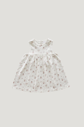 Organic Cotton Ada Dress - Fawn Floral