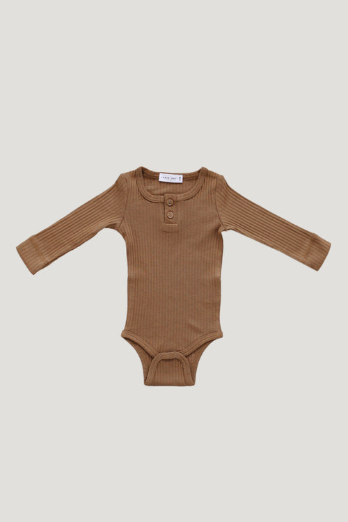 Cotton Modal Bodysuit - Bronze