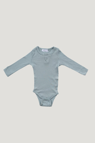 Cotton Bodysuit - Light Grey Marle