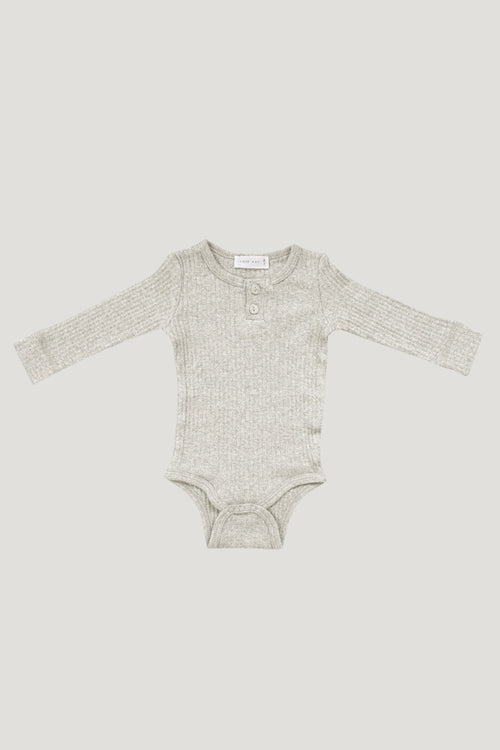 Original Cotton Modal Bodysuit - Oatmeal Marle