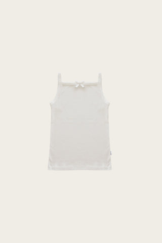 Original Cotton modal Singlet Bodysuit - Milk