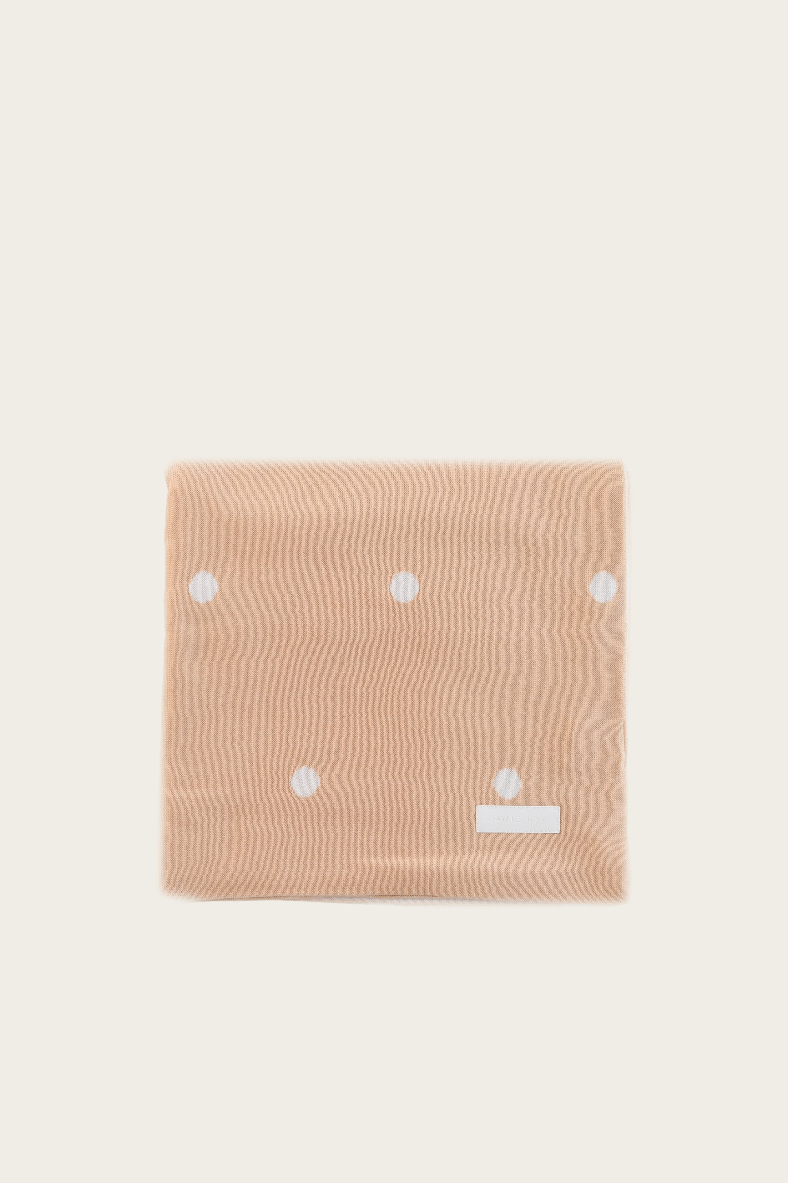 Polka Dot Cot Blanket - Honey Peach