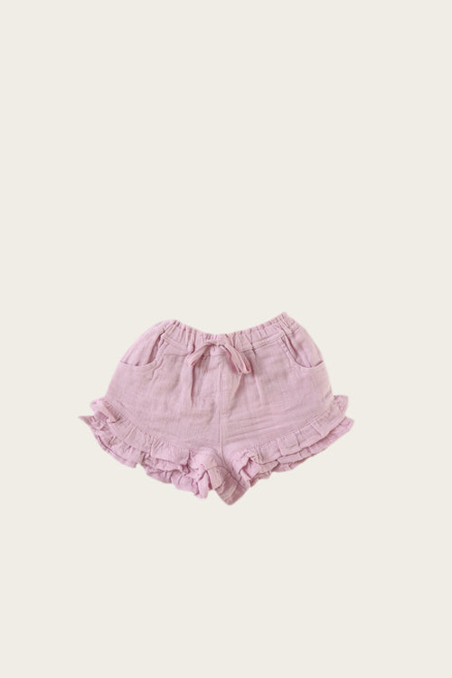 Organic Cotton Muslin Frill Short - Butterfly