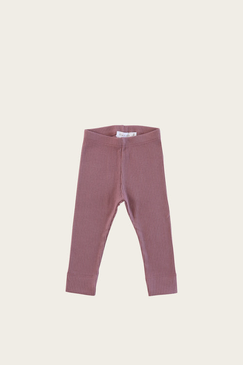 Organic Essential Leggings - Woodrose