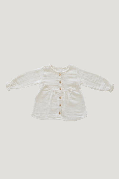 Organic Cotton Muslin Lila Blouse - Cloud