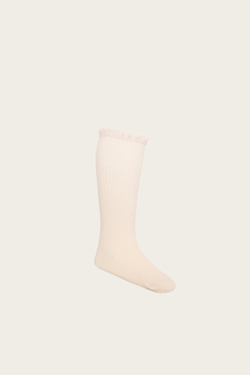 Frill Sock - Peach Dust