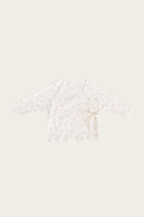 Organic Cotton Wrap Top - Primrose Floral