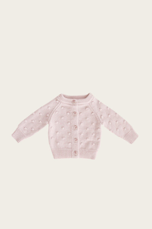 Dotty Cardigan - Old Rose Fleck