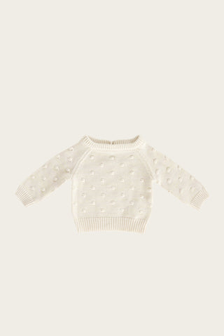 Organic Essential Long Sleeve Top - Milk