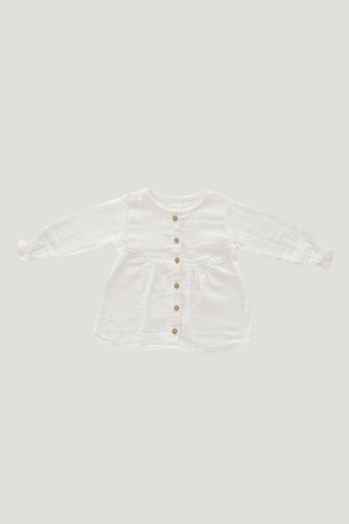 Organic Cotton Muslin Lila Blouse - Coconut
