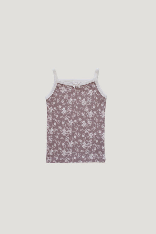 Organic Cotton Singlet - Fawn Floral
