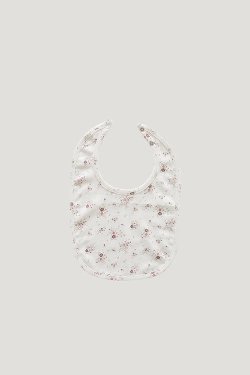 Organic Cotton Bib - Sweet William Floral