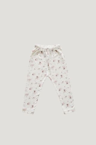 Organic Cotton Footed Pant - Fawn Floral