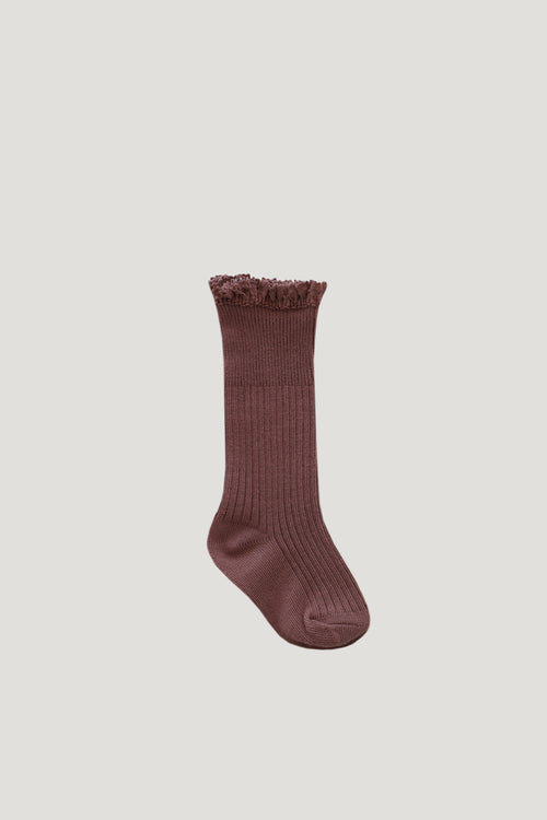 Frill Sock - Antique Rose