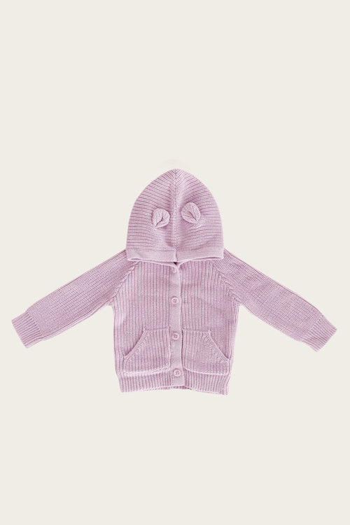 Bear Cardigan - Lavender Frost