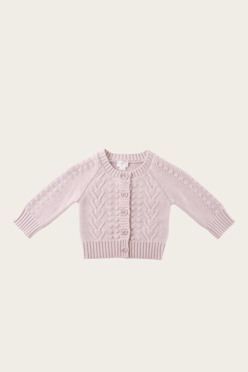 Cable Cardigan - Dewberry Marle