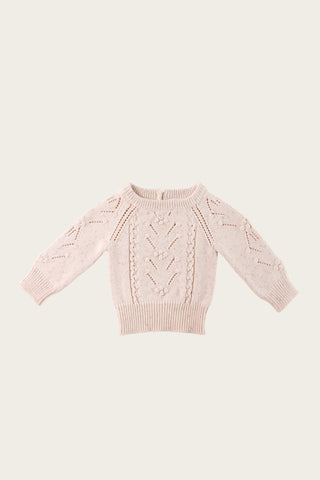 Bear Cardigan - Smoke Marle