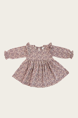 Chloe Cord Dress - Old Rose