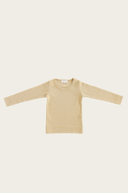 Organic Cotton Charlie Top - Caramel Stripe