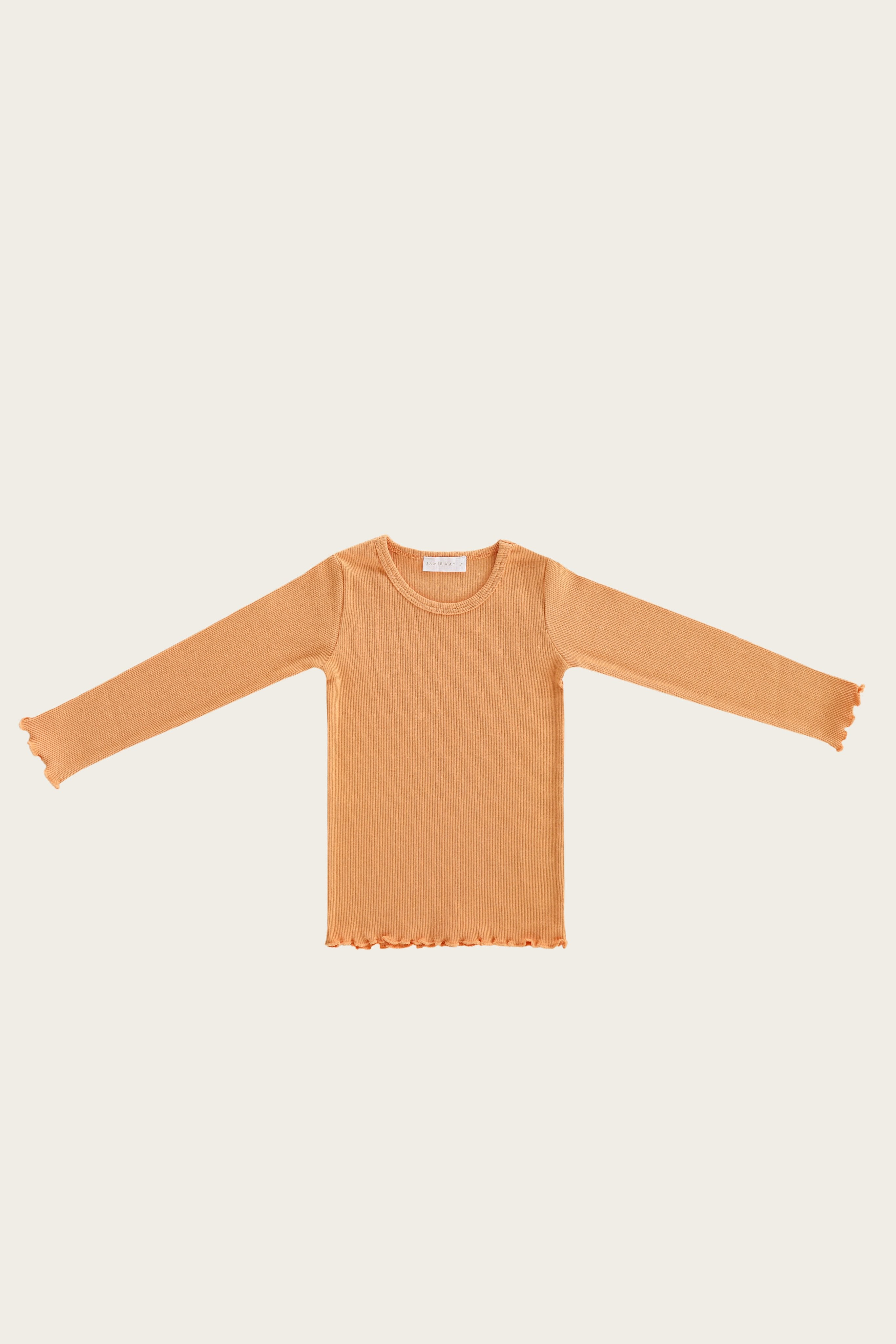 Organic Cotton Maddison Top - Apricot