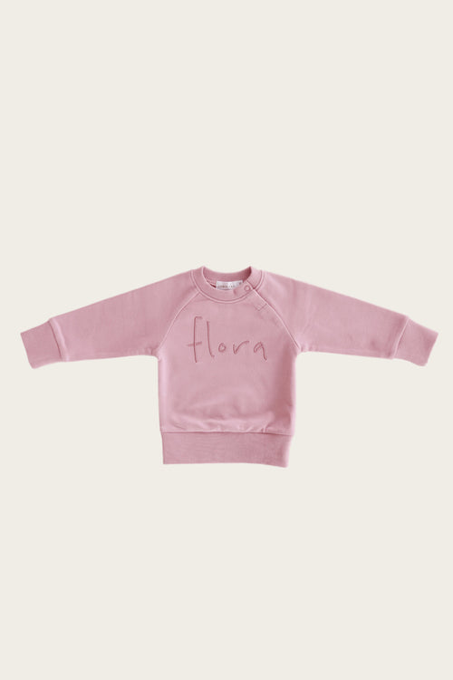 Flora Sweatshirt - Rose