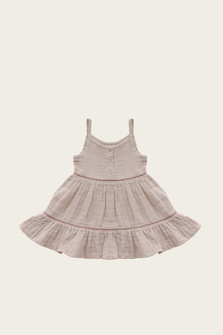 Organic Cotton Muslin Lace Dress - Sweetpea