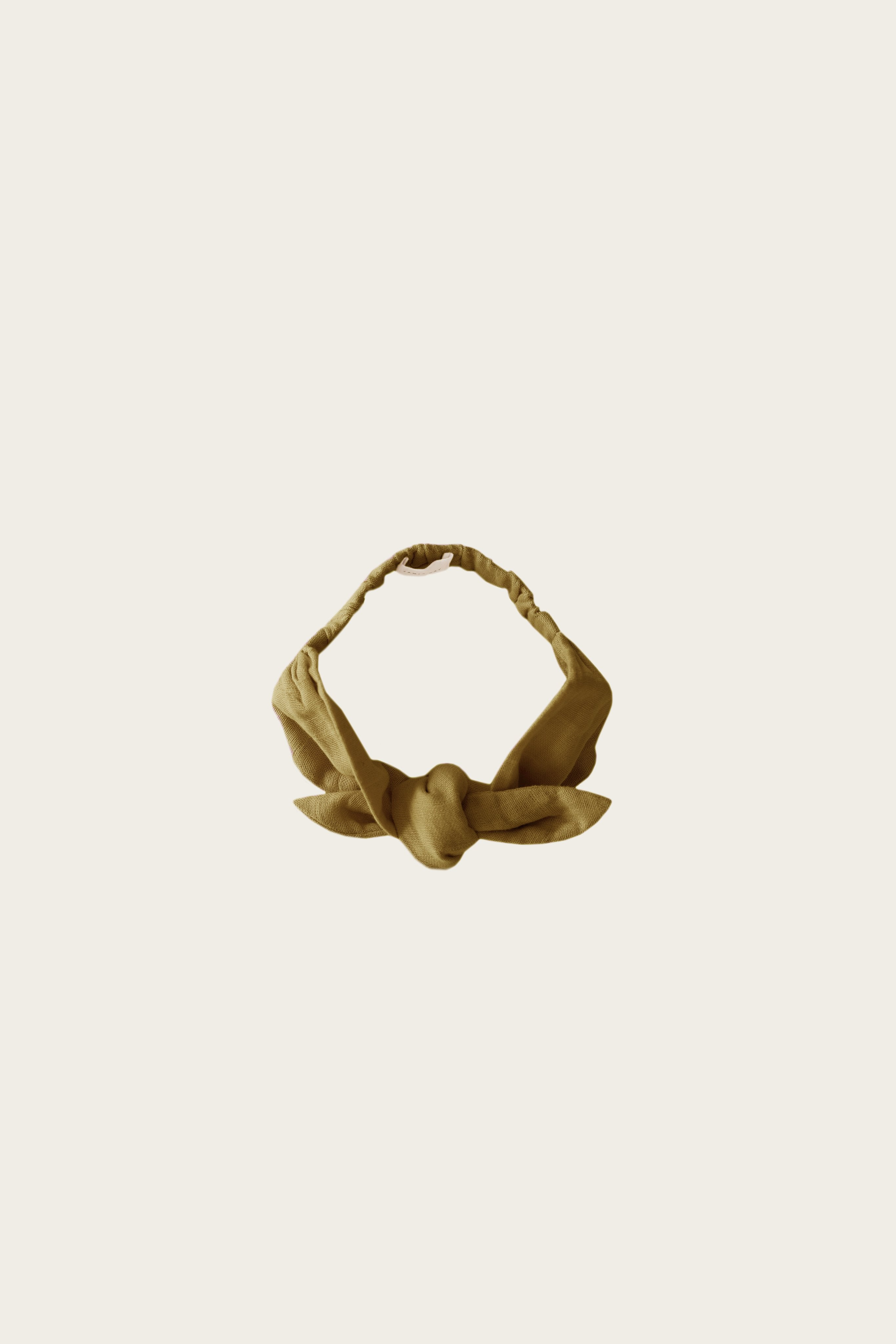 Organic Cotton Muslin Headband - Gold