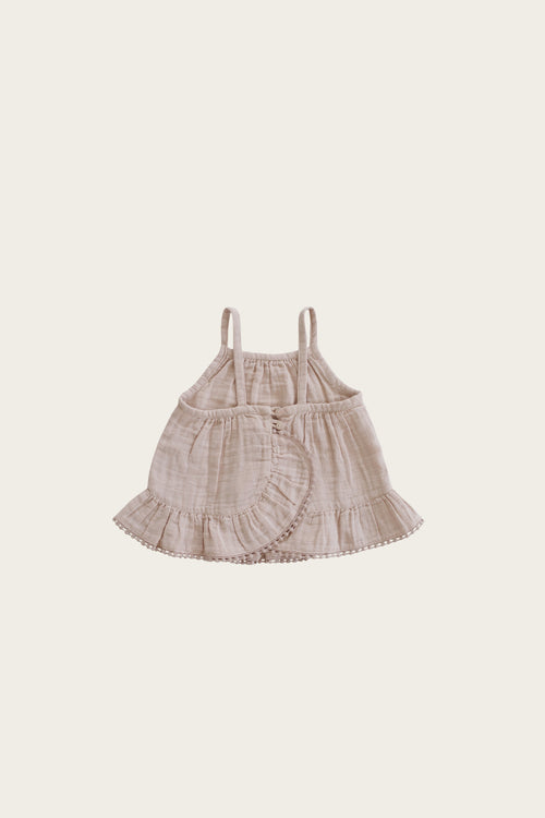 Organic Cotton Muslin Zoe Set - Rose Dust
