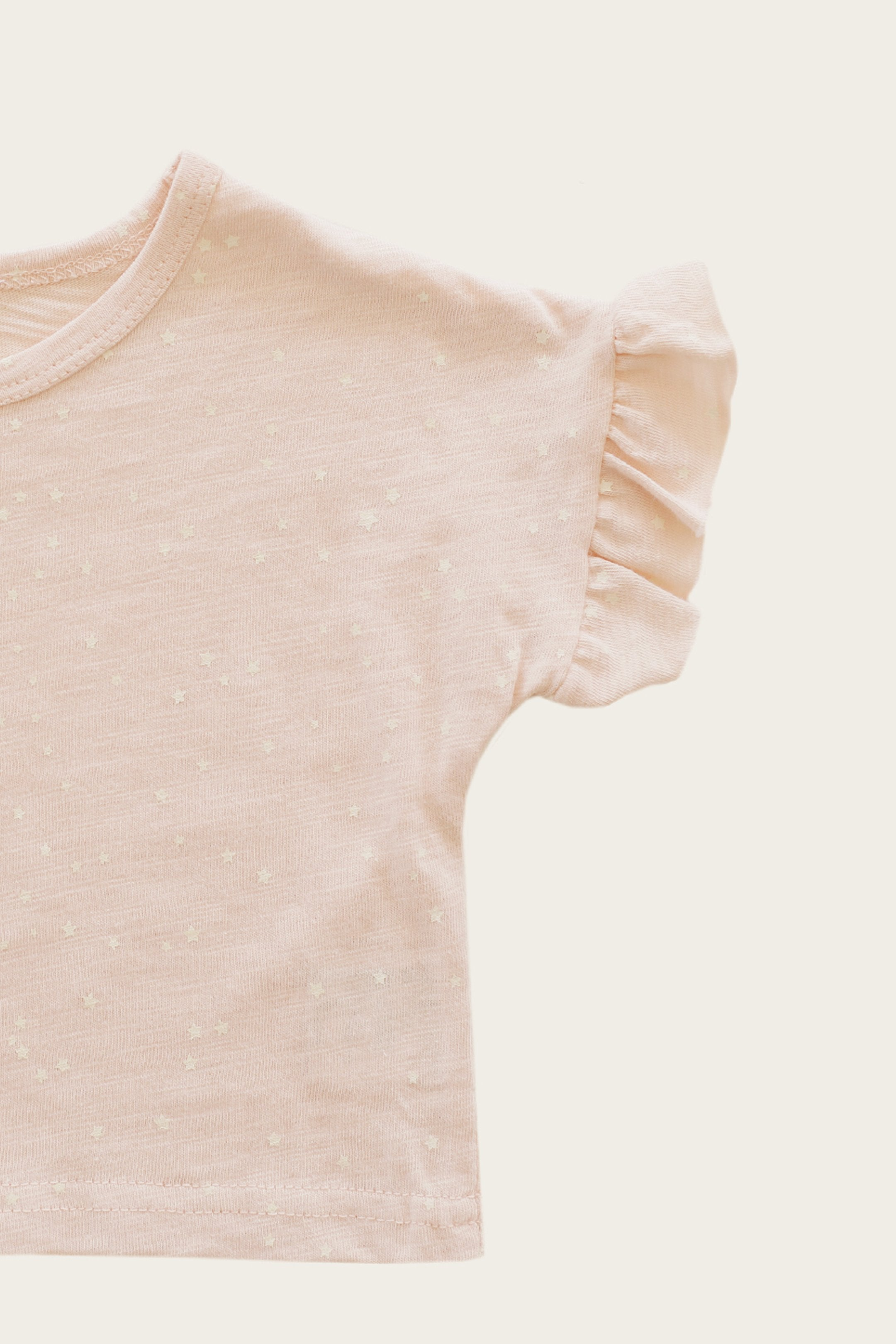 Slub Cotton Fleur Top - Tiny Stars