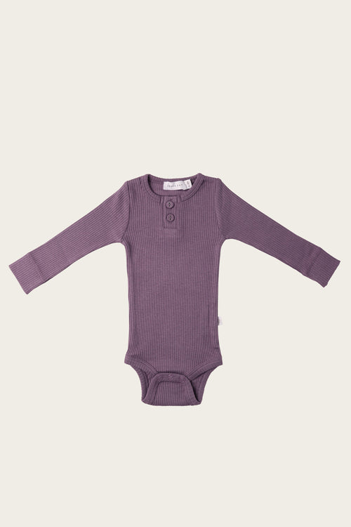 Organic Essential Bodysuit - Grape