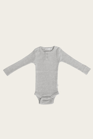 Organic Essential Bodysuit - Dark Grey Marle