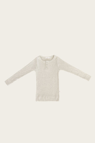 Organic Essential Bodysuit - Light Grey Marle