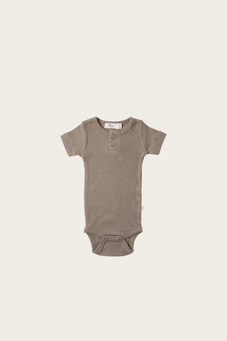 Organic Essential Singlet Bodysuit - Faded Denim