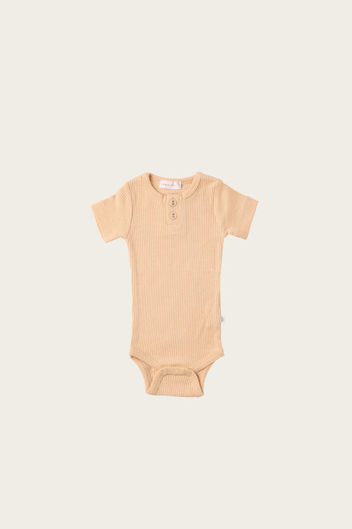 Organic Essential Tee Bodysuit - Honey Peach