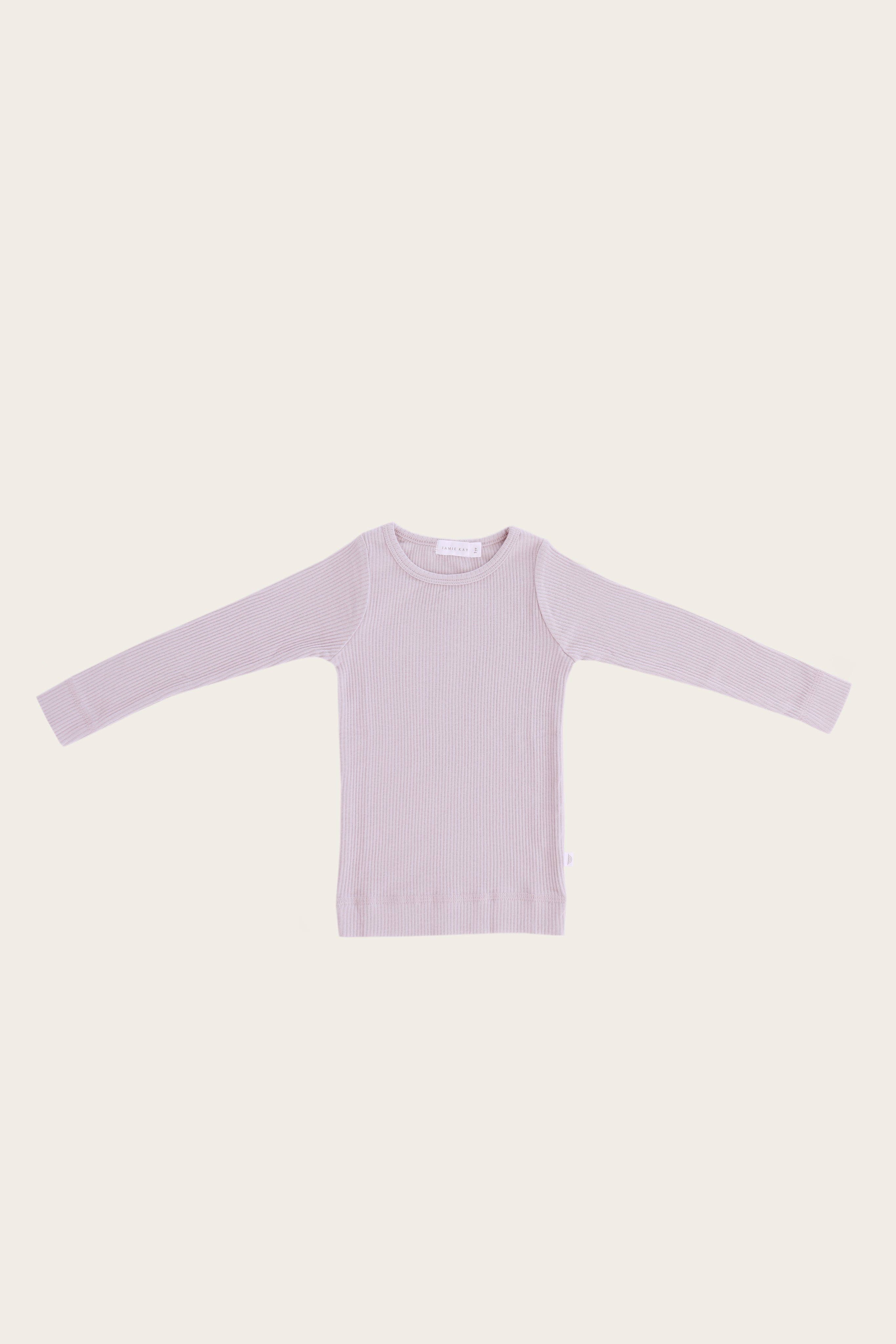Organic Essential Long Sleeve Top - Violet Ice