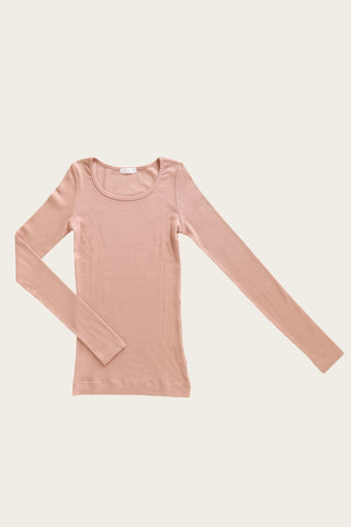 Organic Essential Tee Bodysuit - Copper