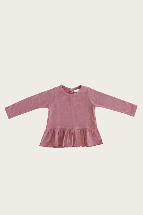 Organic Cotton Bailey Top - Berry Fizz