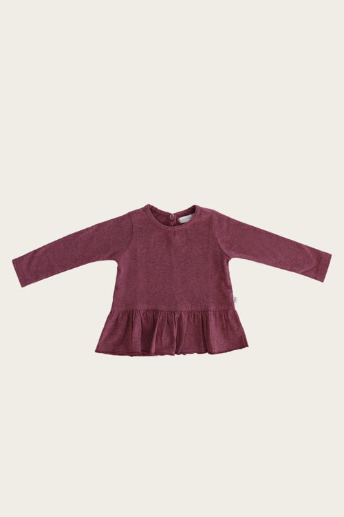 Organic Cotton Bailey Top - Pink Raspberry