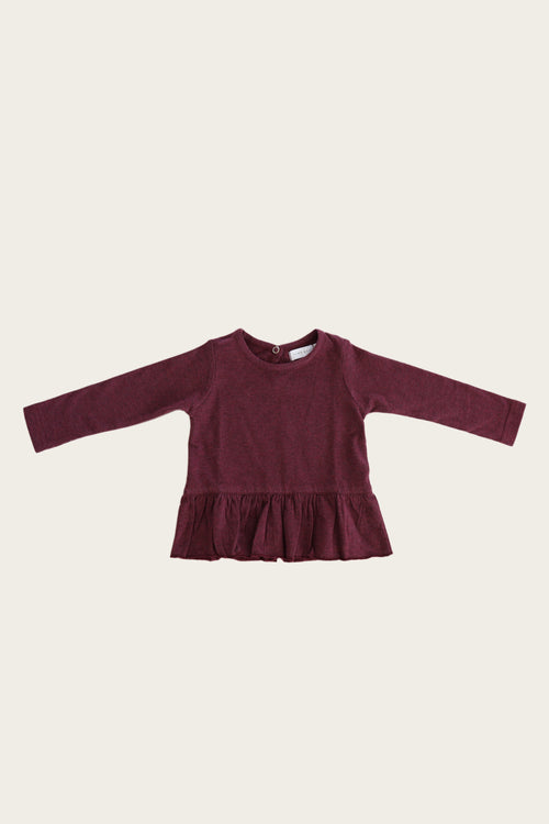 Organic Cotton Bailey Top - Plum