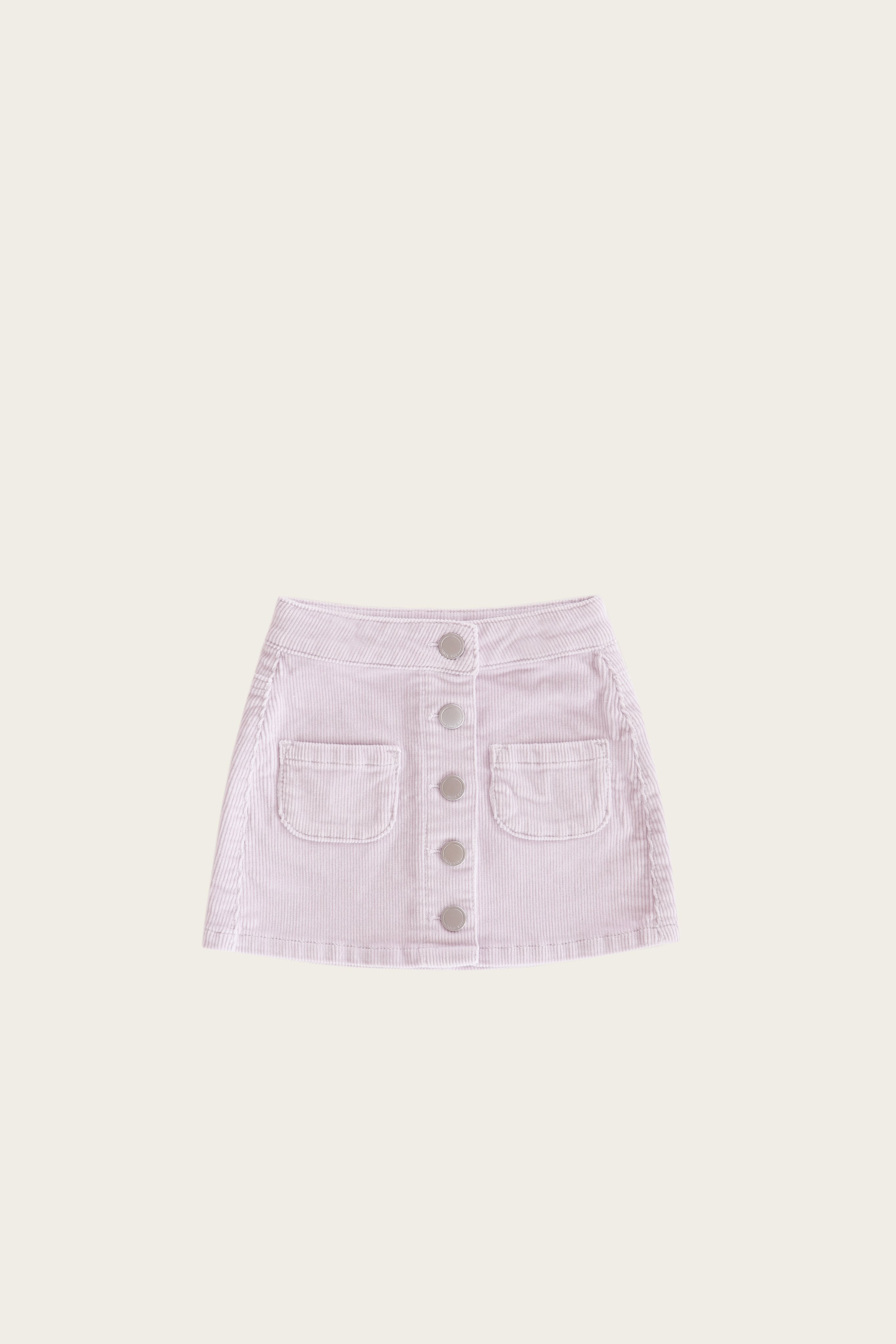 Ava Cord Skirt - Soft Lilac