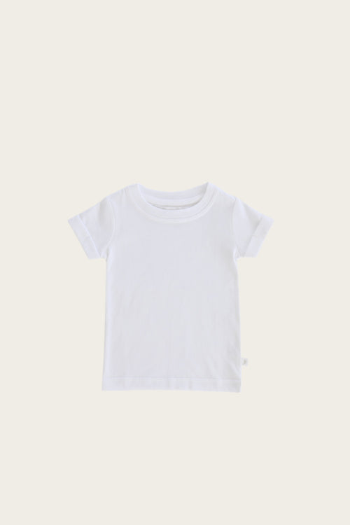 Organic Cotton Cam Tee - White