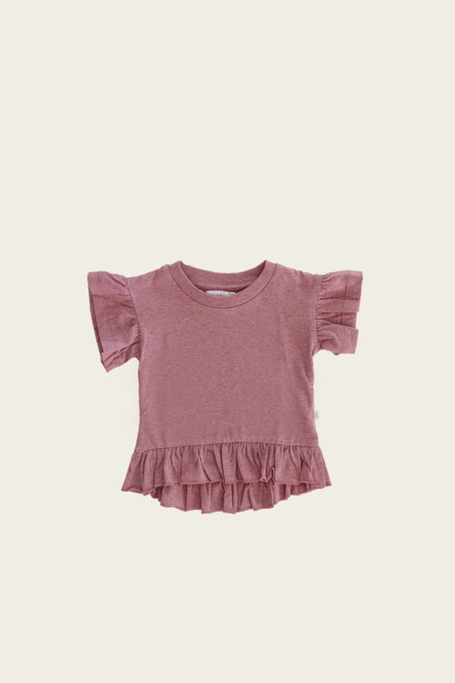 Organic Cotton Eden Top - Berry Fizz