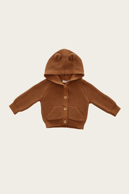 Bear Cardigan - Spice