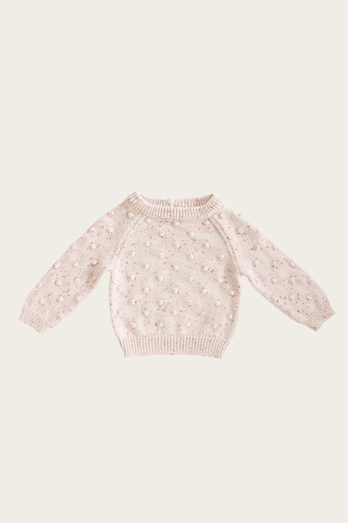 Dotty Knit - Raspberry Fleck