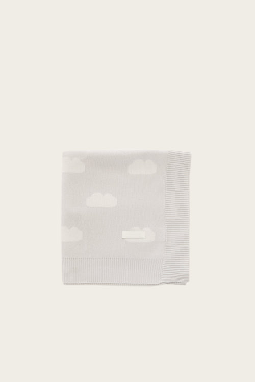 Cloud Cot Blanket - Soft Grey