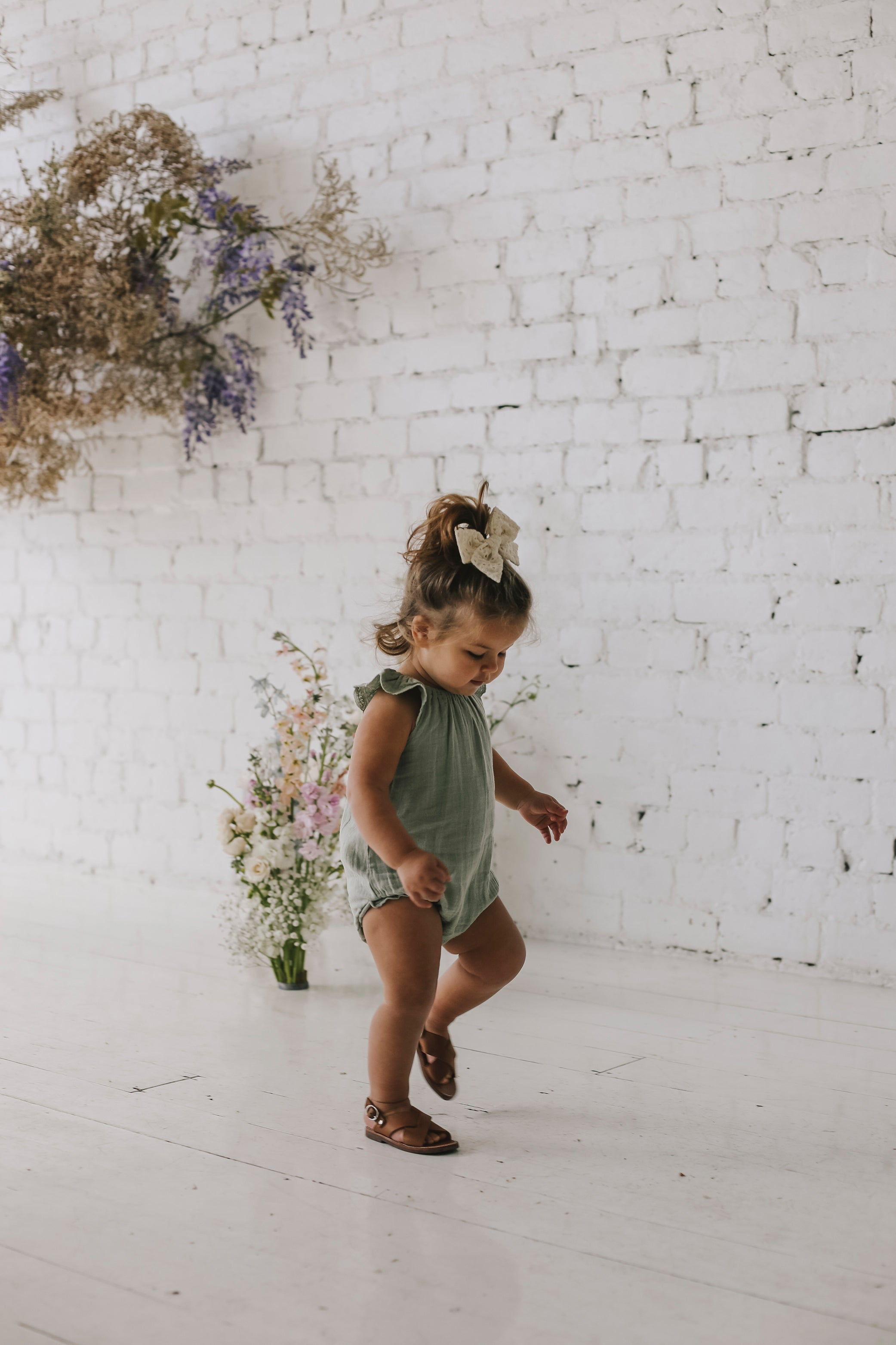 Lace Playsuit - Sage