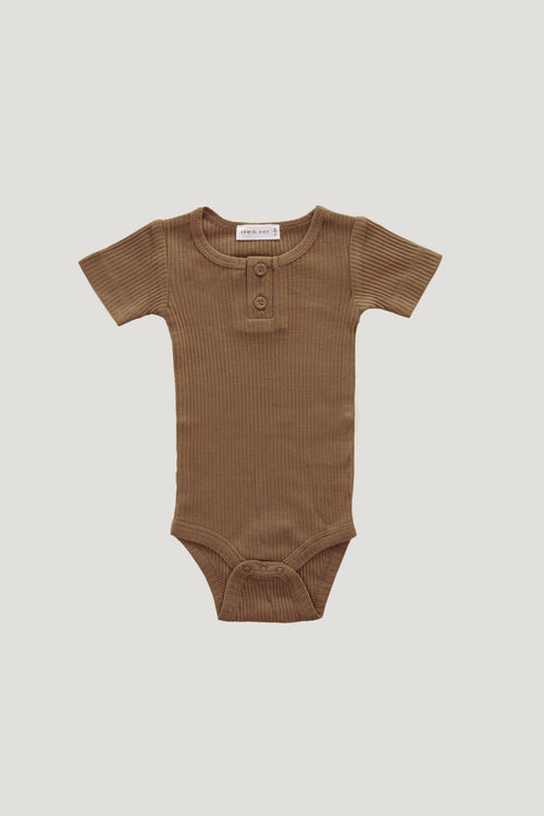 Original Cotton Modal Short Sleeve Tee Bodysuit - Bronze