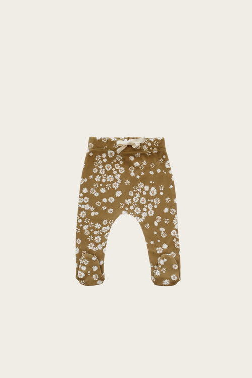 Organic Cotton Footed Pant - Daisy Floral